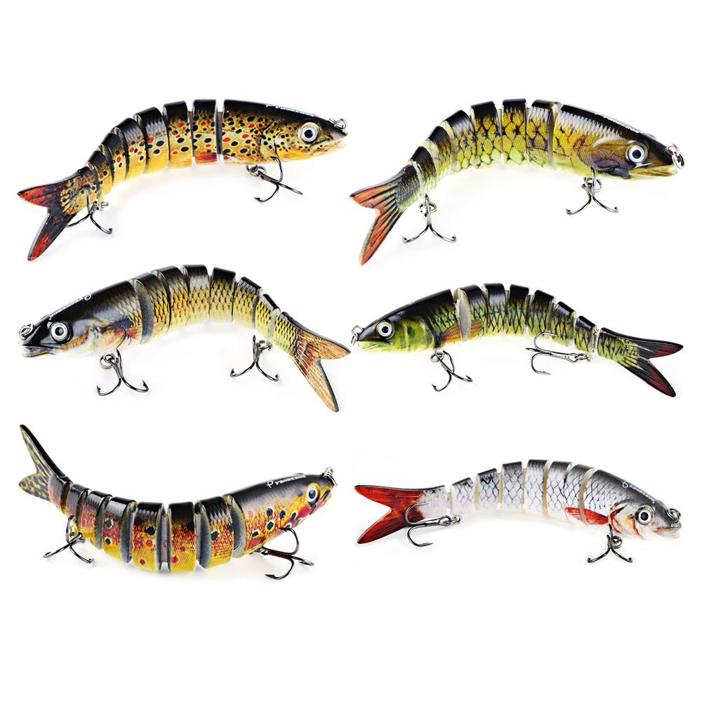 Hot New 13.cm Swim Lifelike Fishing Minnow Lure Jointed Crank Bait Crankbait Bass Pesca Tackle Treble Hook Bait Wobblers Fishing(China (Mainland))