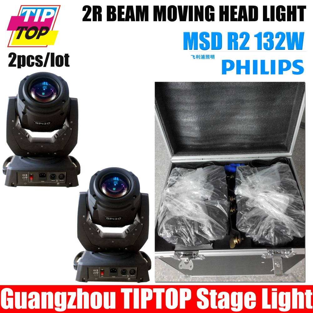 TIPTOP 2pc Sharpy Beam 132W Beam 2R Moving Head Light with Flight Case package Aluminium structure with die-cast plastic cover(China (Mainland))