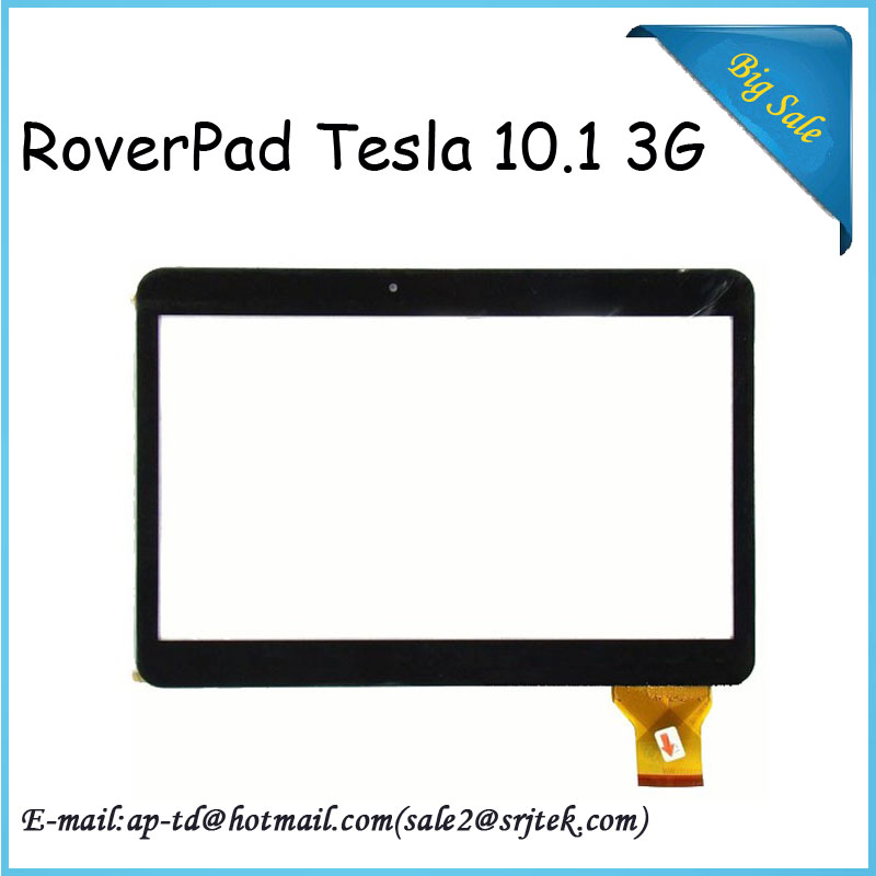 High Quality!! Black Original New RoverPad Tesla 10.1 3G Tablet Capacitive touch screen panel Digitizer Glass Sensor replacement<br><br>Aliexpress