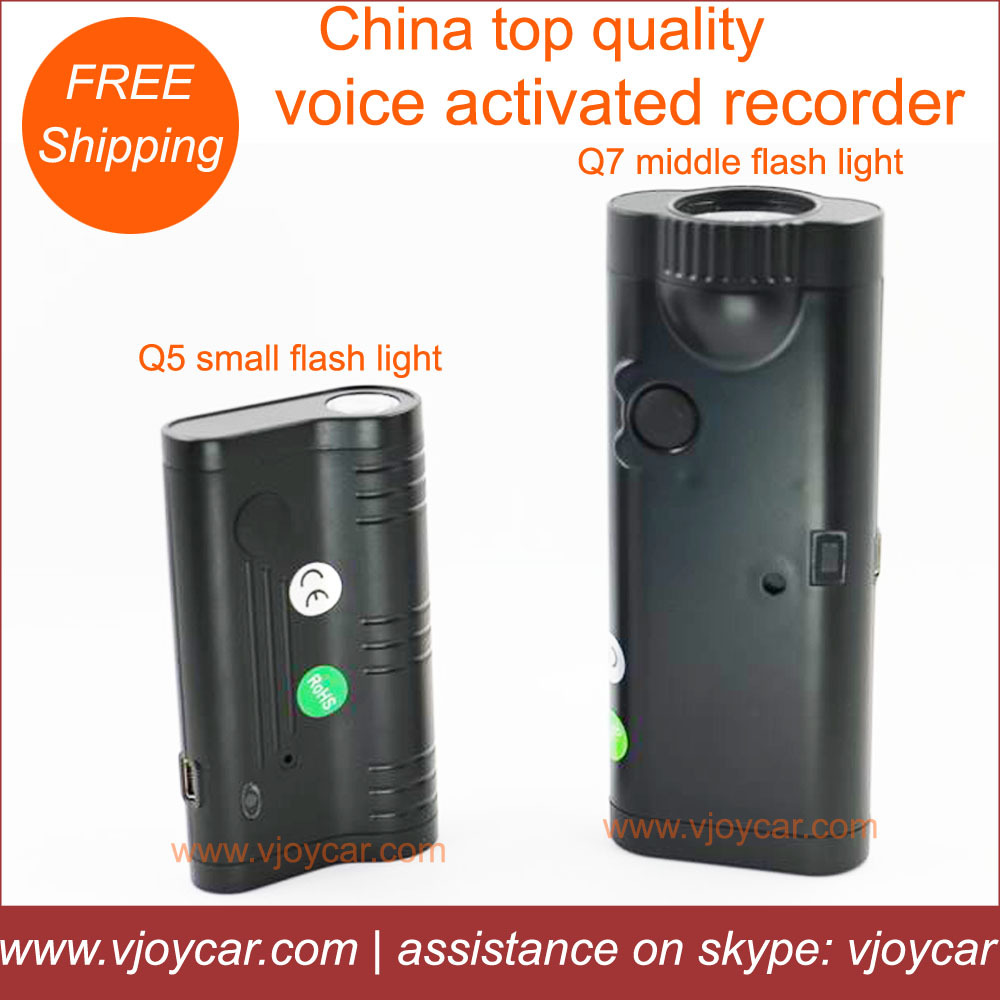 New! China best audio recorder supporting max recording for 175hours + powerful magnet + 2200mAh battery + LED torch light(China (Mainland))