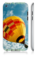 Mobile Phone Case Retail 1pc balloon Protective White Hard Case Cover For Ipod Touch 4 4th Free Shipping