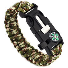 Buy 5 in1 Outdoor Camping Men Bracelet Rescue Paracord Survival Gear Escape Cord Wristbands Emergency Rope Flint Whistle Buckle Kits for $1.24 in AliExpress store