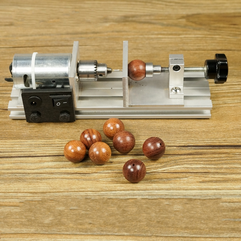 Elegant Metal Mini Woodturning Lathe Machine DIY Model