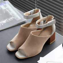 2016 Spring/Autumn Peep Toe High-heeled Sandals Summer Women Shoes Classics Mixed Colors Casual Shoes Large size shoes Pumps