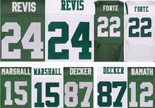 Best quality jersey,Men's 15 Brandon Marshall 22 Matt Forte 24 Darrelle Revis 87 Eric Decker elite jerseys,White and Green(China (Mainland))