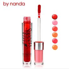 By Nanda Sweet Kiss Lip Liquid Professional Makeup Waterproof Non-stick Cup Lip Gloss Smooth Moisturizing Easy To Wear Lips(China (Mainland))