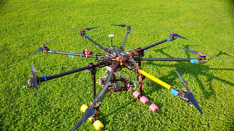 hh lj 1450mm large scale professional 25mm folding x8 drone uav octocopter framemotorprosescs kit for aerial photography