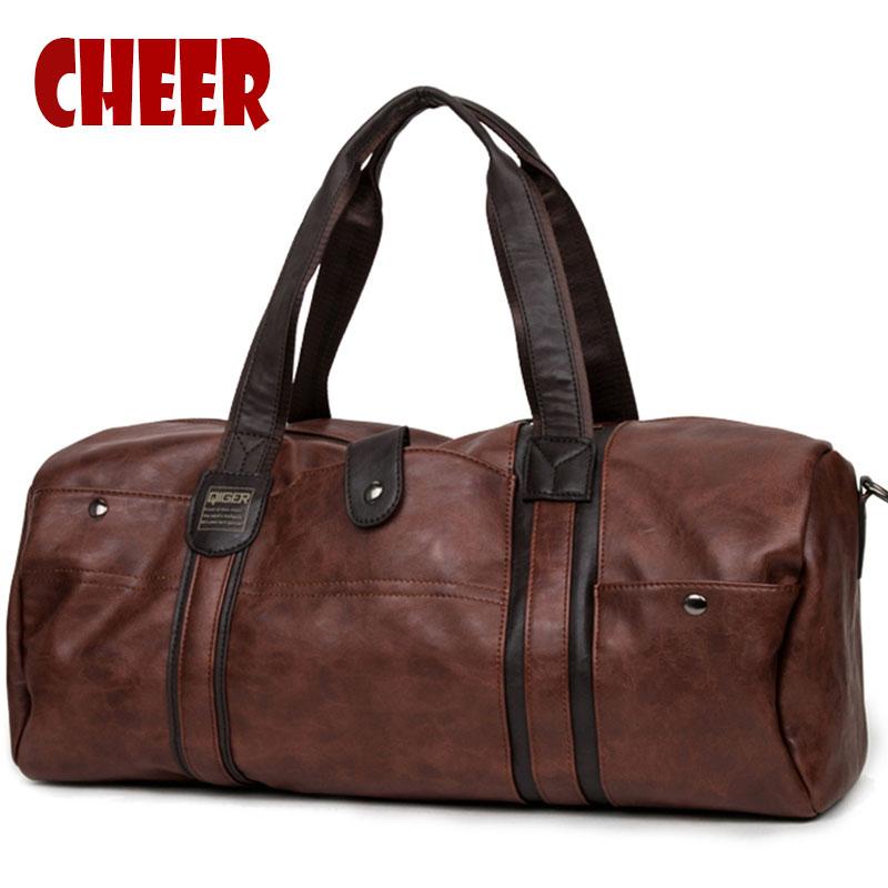 Men's Bags for Totes Vintage Designer Messenger bag crossbody bag men shoulder large-capacity Oil wax High Quality Travel Bags(China (Mainland))