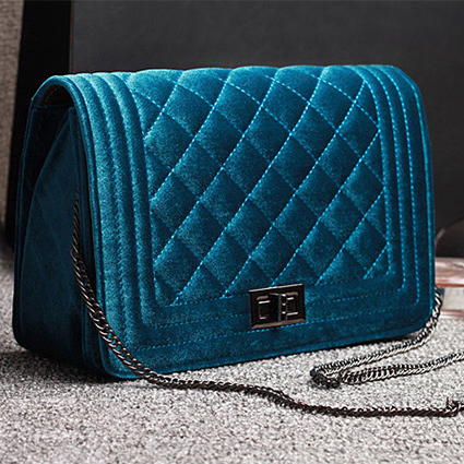 2015 Spring HOT sale fashion vintage velvet diamond lattice chain bag/shoulder Ladies' Messenger Bag(China (Mainland))