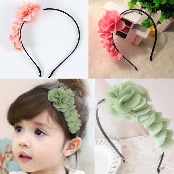 1PCS 2014 Fashion Design Baby Girls Toddlers Kids Infants Flower Headband Hairband Hair Accessories Wear Bow Free Shipping(China (Mainland))