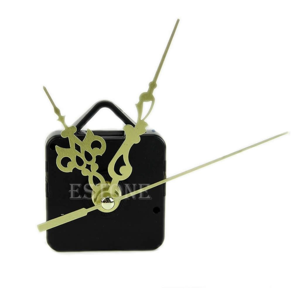 J117-Free shipping Quartz Clock Movement Mechanism Gold Hands DIY Replace Repair Parts Kit New(China (Mainland))