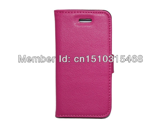 10pcs/lot free shipping High quality Litchi Leather case wallet Book case For Apple iphone 5C with stand(China (Mainland))