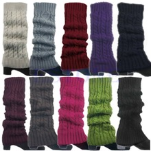 Z101 Korean Women Lady Winter Knitted Crochet Socks Leg Boots Warmer Cover Leggings Free shipping