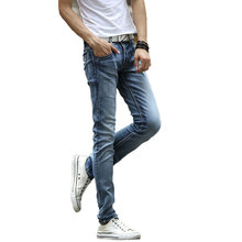 2015 New Arrival Fashion Autumn&Winter Style Men Jeans Slim Good Elasticity Casual Wear KZ0068(China (Mainland))