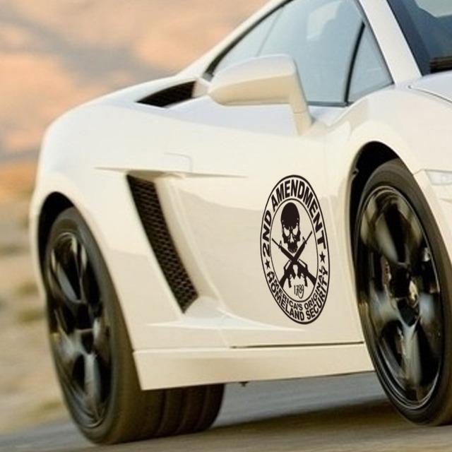 Америки родина безопасность автомобиль наклейки череп украшение винил автомобиль наклейка наклейка 404
