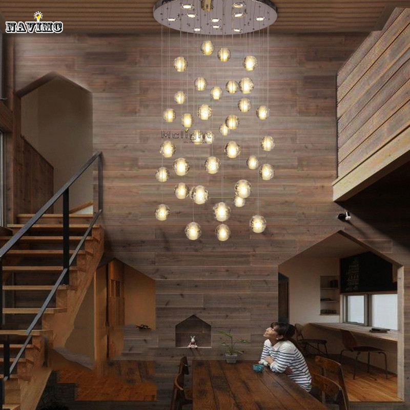 Modern LED Crystal Ceiling Lights Fixtures Magic Crystal Ball lustre loft Stairwell 10 Crystal Light Meteor Shower Crystal Lamp(China (Mainland))