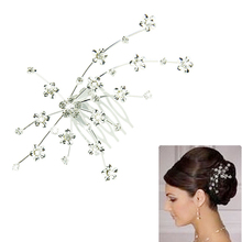 Attractive Silver Personality Gem Crystal Wedding Bridal Jewelry Princess Hair Jewelry Accessories,Free shipping