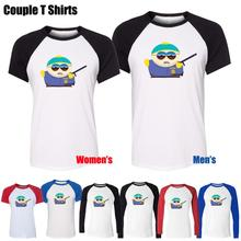 Eric Theodore Cartman in South Park Funny Design Printed T-Shirt Women's Girl's Tee Tops Red or Black Sleeve
