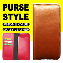 Commercial Wallet Style flip case Gionee Elife E7 Mini cover leather Crazy Horse Purse Pouch phone - Marvelous Time store