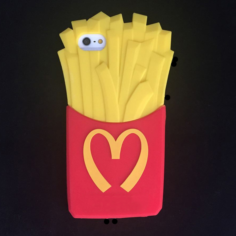 The Ice Cream Potato chips Lovely Popular Soft Silicone Phone Case Cover for iPhone 4 4S 5 5S 6 6plus for Samsung S3/S4/S5/i8190(China (Mainland))