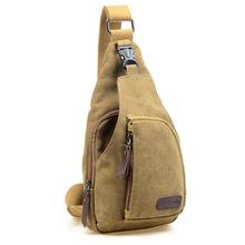 Canvas Male Shoulder Bag Casual Canvas Bag One Single Shoulder Messenger Bag outdoor Travel Bag Small