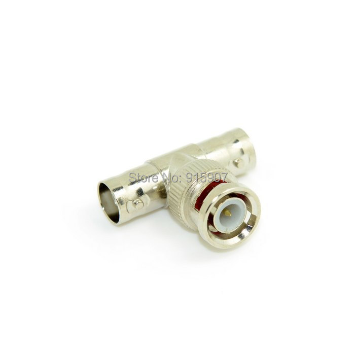 CY 10pcs Lot BNC Female to Dual 2 Female F Jack Triple T Type Coaxial Adapter Connector Splitter(China (Mainland))