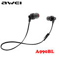 Awei A990BL Sport Wireless Headphones Bluetooth Earphones Stereo In ear Headset Voice control Noise Reduction with
