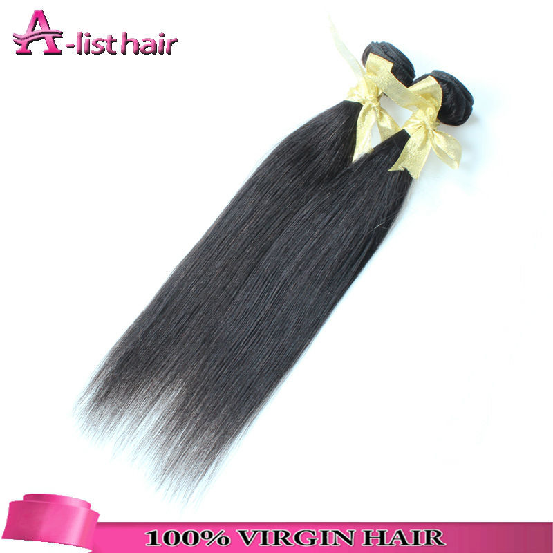 6A Grade 100% Mongolian Virgin Hair Straight Wholesale Virgin Hair Extensions Ships From Us 2 Bundles Cheap Good Hair Extensions(China (Mainland))