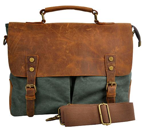 2015 wholesales men messenger bags new arrival fashion male single-shoulder bag Retro canvas bags genuine leather bag MBBSB00094(China (Mainland))