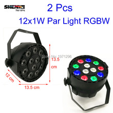 Buy 2 Pcs Newest 12x1W RGBW Colorful 8CH DMX LED Stage Light Disco Nightclub DJ Bar Stage Lighting Effect Master/Slave Projector for $28.00 in AliExpress store