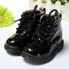 Frühling Herbst Mode Süßigkeiten Kinder Stiefel Kinder Kunstleder Wasserdichte Rutschfeste Stiefelette Schuhe Winter Jungen Mädchen Schuh(China (Mainland))
