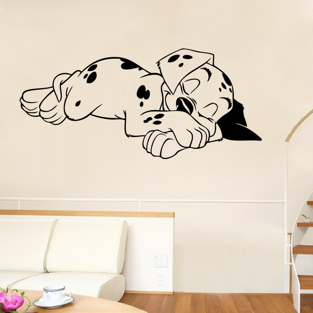 Sleeping Dog Wall Stickers Bedroom Living Room Decoration Wall Stickers Pvc Removable Stickers