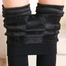 Free Shipping Women Leggings inside Thicken Fur Warm Leggings womens winter fleece legging pants female velvet leggins G0642(China (Mainland))