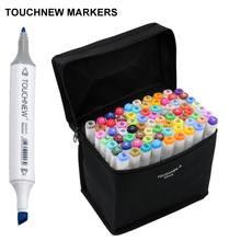 TOUCHNEW Art Markers 6th Generation Oily Alcoholic Double Headed Professional Design 30 60 80 pcs/set Artist Sketch Marker Sets(China (Mainland))