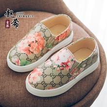 shoes for kids breathable kid shoes children girls print kinderen schoenen meisjes elastic bank kids flat breathable shoes PU