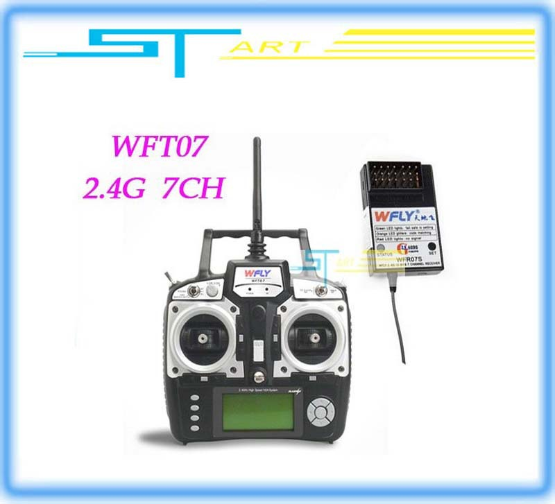 WFLY WFT07 remote controller RC system 7CH transmitter 2.4GHz receiver for airplane helicopter car boat Drone diy fashion