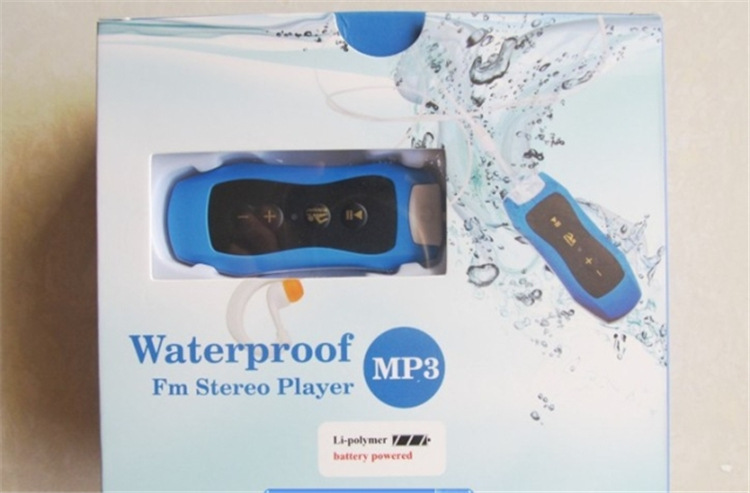 Hot Sales 4GB Swimming Diving Waterproof MP3 Player Underwater Sport MP3 Music Players Mini Clip MP3 With FM Radio Headphones