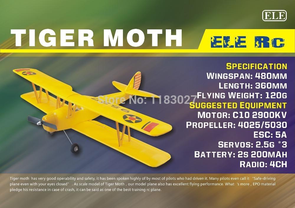 RC Plane EPO Micro Airplane Model Tiger Moth Wingspan 480mm(China (Mainland))