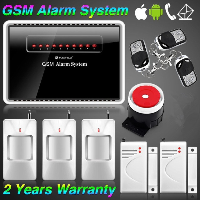 Two rooms one hall household intelligent voice type a mobile phone alarm<br><br>Aliexpress