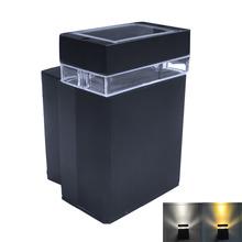 2pcs/lot Waterproof Outdoor 4W  3200K/6500K Cool white/Warm white Wall Lamp Balcony Lamp - Black (AC 85~265V)(China (Mainland))