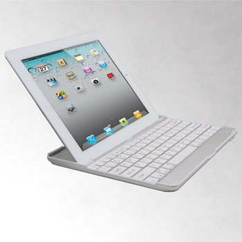Free shipping Ultrathin Bluetooth Wireless Keyboard for PC Macbook Mac case for ipad 3 ipad2, the new case for ipad ipad 3 White