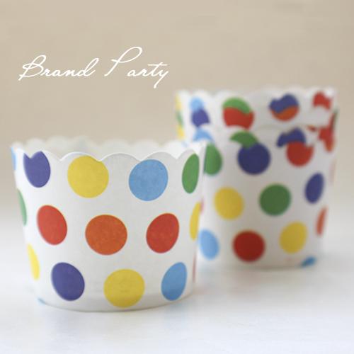 Colorful Polka Dots bulk 100pcs/lot High temperature baking greaseproof paper muffin cases cupcake line
