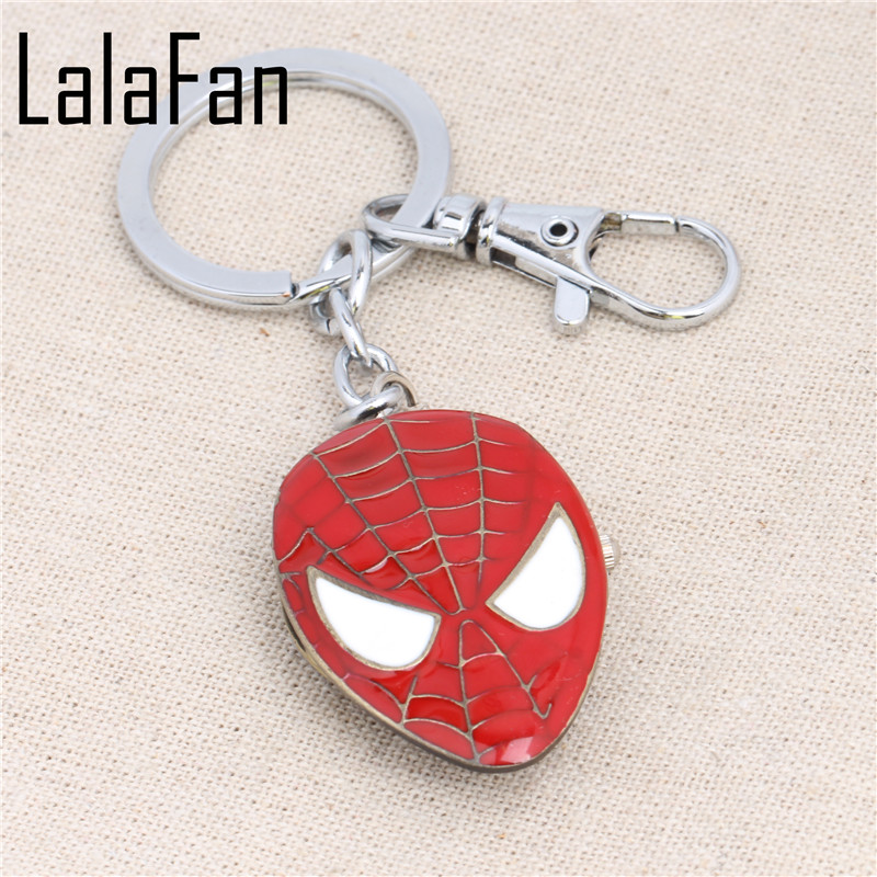 Spider Man Marks Pocket Watch Pendant Key Chains YSK813(China (Mainland))