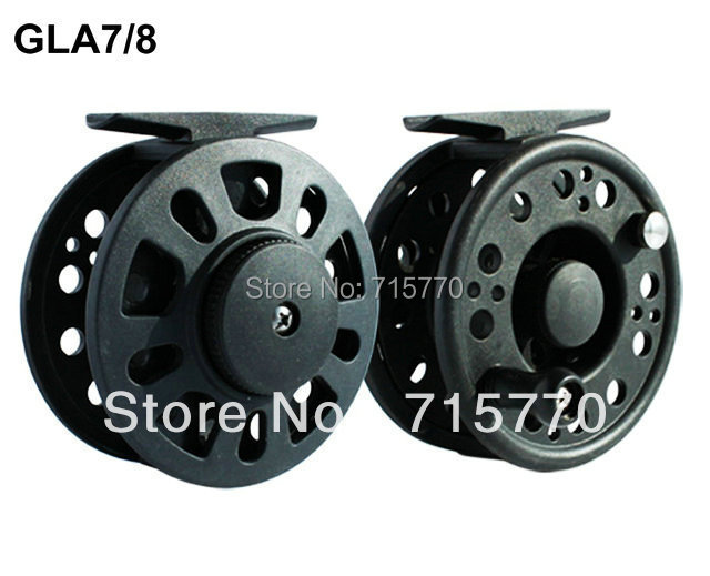 Graphite Fly Fishing Reel GLA7/8 90mm Free Shipping