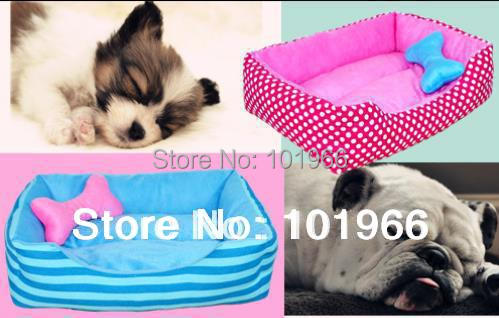 Free Shipping New Washable Pet Nest Kennel Fashion Stripes Spots Style Dog House Dog Bed Dropshipping(China (Mainland))