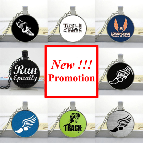 2015 New Fashion Glass Dome Pendant Running Quote necklace Gift For Runner Man Fashion Bronze Pendant Necklace(China (Mainland))
