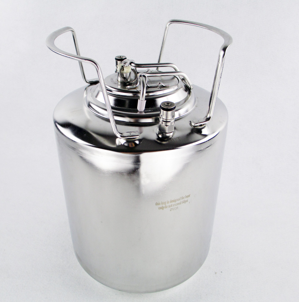 10L New Stainless steel Ball Lock Cornelius Style Beer Keg With Metal Handles high quality(China (Mainland))