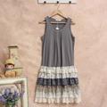 robe femme tunique harajuku crochet linen vestido Mori Girl Lace ruffle lolita hippie boho bohemian vintage