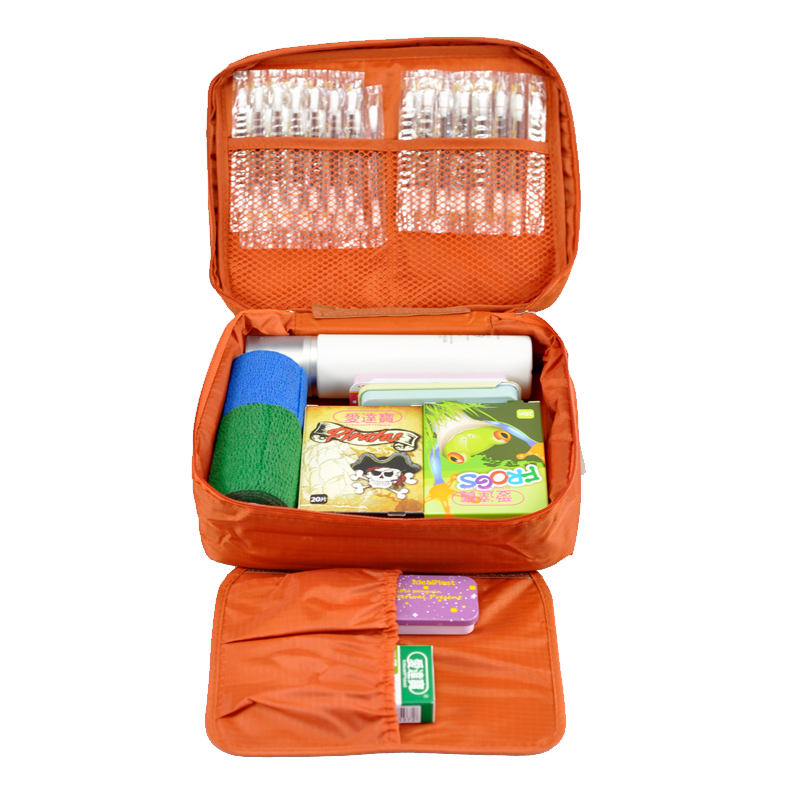 Free Shipping Orange Outdoor Travel First Aid Kit Bag Home Small Medical Box Emergency Survival kit Treatment Outdoor Camping(China (Mainland))