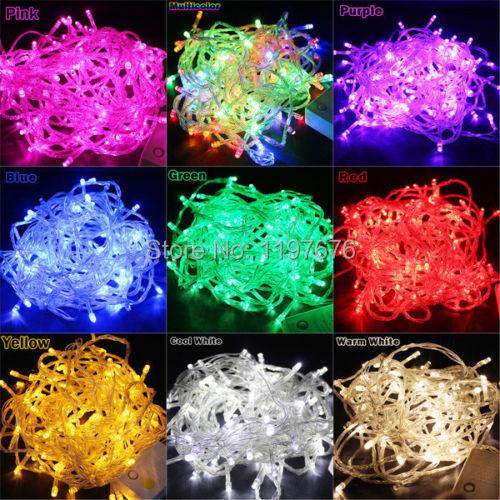 10M 100 LED String light for christmas party wedding Fairy Light decorative Multi colors Christmas 220V EU 110V US Plug(China (Mainland))